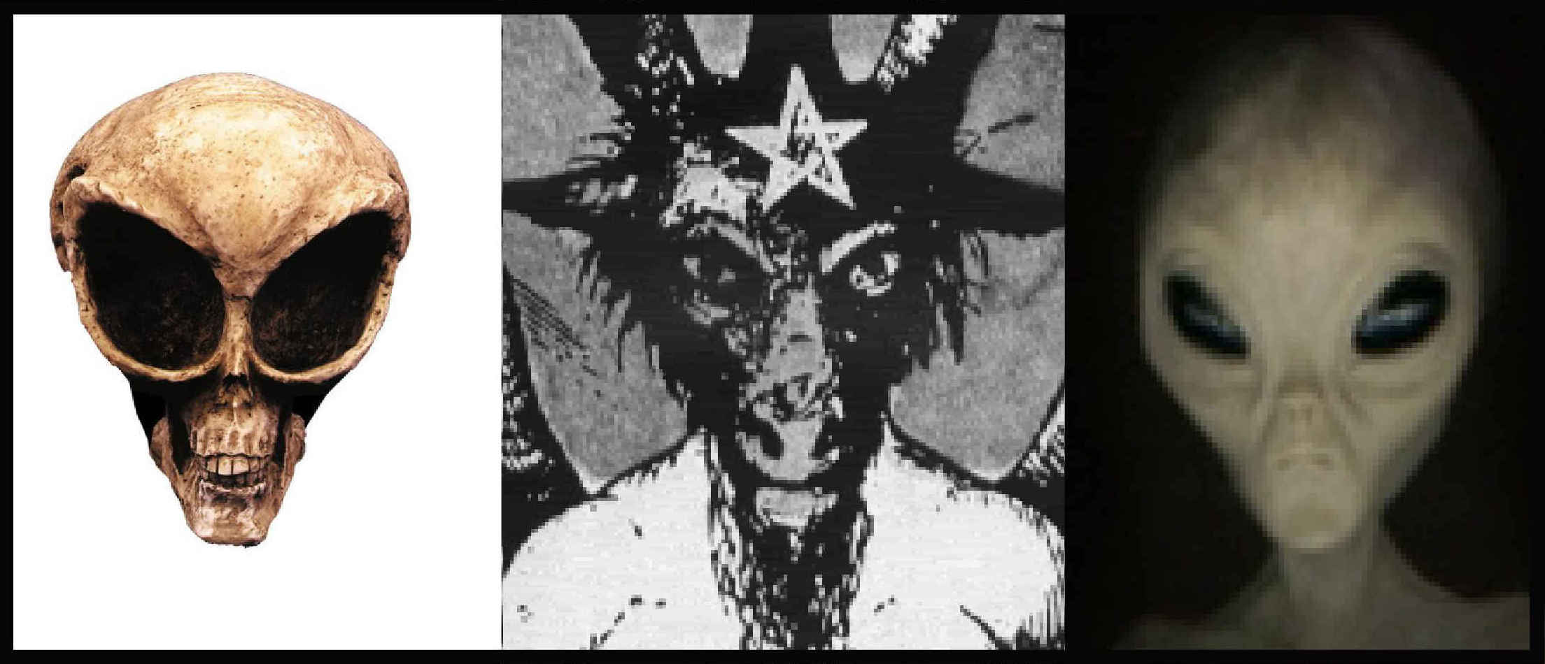 Alien heads showing link between UFOs and demonology: www.chodesh.info